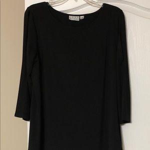 Black Split Sleeve Top